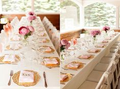 Who will not love those gold doilies? Hot pink and gold sure looks lovely and we can't get enough of those wedding doilies. They are just lovely and great for weddings