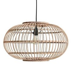 What a picture this lamp! This pendant lamp of HK Living is made of beautiful natural brown bamboo. The lamp fits very nicely example above the dining table or Pendant Lighting Bedroom, Home Lighting, Pendant Lamp, Bamboo Lamp, Ceiling Lamp, Floor Lamp, Light Fixtures, Decoration, Table Lamp