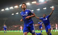 """Chelsea FC - Official on Instagram: """"Loic Remy celebrating his goal against Stoke City. #CFC #Chelsea #LeagueCup"""""""