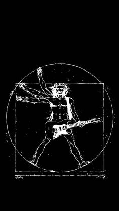 Vitruvian, power chord, guitar-man...