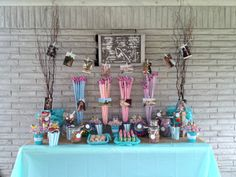 DIY : My graduation party candy table it was very simple but with a touch of country feel, it turn out a main focus in the party :)  and we just added a few of my graduation pictures to make it more fun