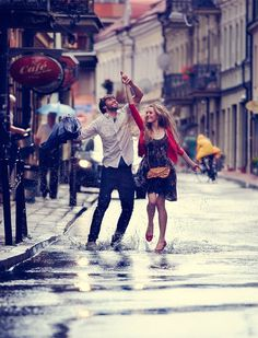 and we will dance in the rain. You and I.