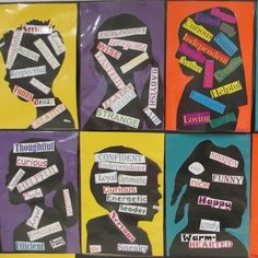 Great for teaching Characterization in reading unit. Have students create words about themselves with silhouettes or portraits! Go to link for good ideas on teaching character traits. Reading Lessons, Reading Skills, Teaching Reading, Reading Strategies, Guided Reading, Efl Teaching, Teaching Ideas, Teaching Character Traits, Character Education