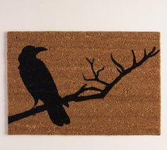 Crow Doormat, $12.99 | 25 Subtle Halloween Decorations You Can Keep Up Year-Round