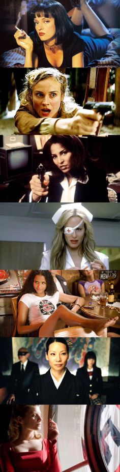 In Quentin Tarantino's films, there's always a strong female characters and seemed invincible. Which ones are you like?
