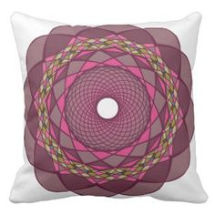 Circular Ornaments Throw Pillow