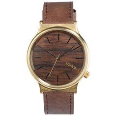 Komono Relógio Wizard (Gold/Wood)