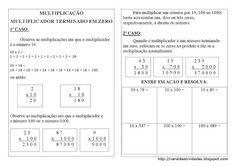 VARAL DE ATIVIDADES: Multiplicação com Zero