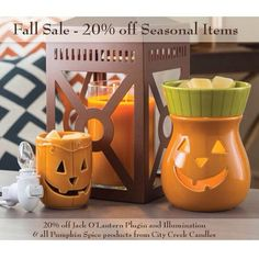 Bring Fall into your home with 20% off seasonal items until the end of this month!