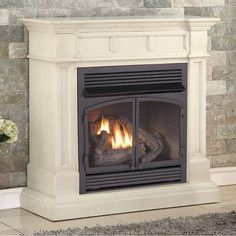Duluth Forge Vent Free Freestanding Natural Gas/Propane Fireplace Size: H x W x D, Finish: Antique White, Remote Included: No Vent Free Gas Fireplace, Natural Gas Fireplace, Stove Fireplace, Fireplace Inserts, Fireplace Mantels, Custom Fireplace, Gas Fireplaces, Electric Fireplaces, Propane Fireplace Indoor