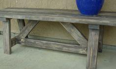 $20 DIY Outdoor bench http://builditwithbrooke.blogspot.com/