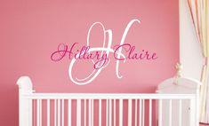 Baby+Girl+Nursery+Wall+Decal++Monogram+Name+by+JustTheFrosting,+$25.00