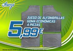 Oferta Verano (28 de agosto al 28 de octubre 2014) - Llévate el Juego de Alfombrillas de goma más económicas. Más información en www.aurgi.com/