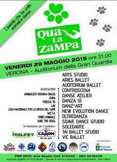 29/5 #QualaZampa #spettacoli di #danza a sfondo #animalista. Presente la #LegadelCane di #Verona con uno stand