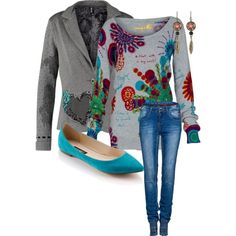 A fashion look from January 2015 featuring Desigual sweaters, Desigual and Desigual jeans. Browse and shop related looks.