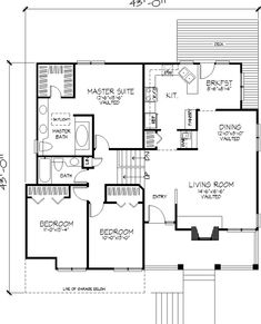 House floor plans with pictures lancaster house 2216 for Bi level house plans with attached garage