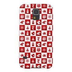 New Year pattern. Red and White. 2018. Case For Galaxy S5 - New Year's Eve happy new year designs party celebration Saint Sylvester's Day