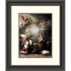 Global Gallery 'Annunciation' by Bartolome Esteban Murillo Framed Painting Print Size:
