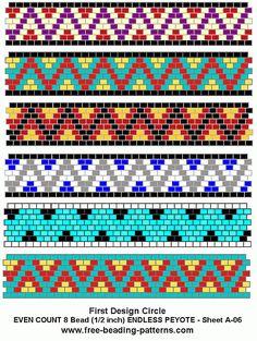 Brick stitch free-peyote-bead-pattern-A-06