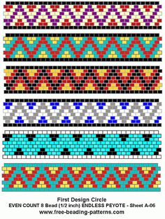Brick stitch free-peyote-bead-pattern-A-06