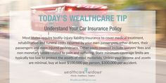 Todays' Wealthcare Tip for #Widows: Understand Your Car Insurance Policy