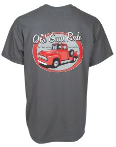 Old Guys Rule Red Pickup Truck T-Shirt - Free Shipping on Orders Over $99 at Genuine Hotrod Hardware