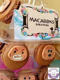 Macarons kakamora sweet table vaiana étiquettes personnalisables : mysweetkat.com