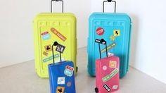 How to Make Doll Luggage | Suitcase | Plus Darbie Show Beginnings, via YouTube. MyFroggystuff.blogspot.com
