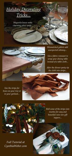 Holiday Decorating Tips CynthiaWeber.com