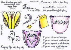 Stamp Set 464 - Zendoodle Tea Sparkle N Sprinkle