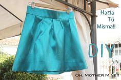 DIY Como hacer esta falda plisada VERDE ESMERLD