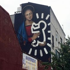 Bushwick Collective, Brooklyn, New York - Owen Dippie tribute to Keith Haring Street Art News, Street Art Graffiti, Mural Art, Wall Art, Art Du Monde, Instagram Wall, Street Installation, Beautiful Streets, Realistic Paintings
