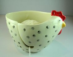 hen planter or yarn bowl