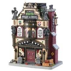 Lemax The Haunted House of Props. SKU# Released in 2018 as a Spooky Town Lighted Building. Halloween Train, Halloween Village, Fall Halloween, Halloween Decorations, Halloween 2018, Halloween Stuff, Haunted House Props, Monster House, Horror Decor