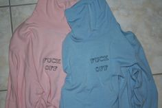 baby blue fuck off turtleneck pastel goth pink explicit curse 90s embroidery grunge club kid