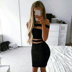 transparencia vestido negro