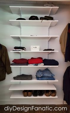 storage space, closet, add storage space to closet, mountain cottage, simple project Childrens Bedroom Storage, Attic Bedroom Storage, Bedroom Storage Cabinets, Box Bedroom, Cupboard Storage, Closet Bedroom, Tiny Closet, Closet Rod, Small Closets