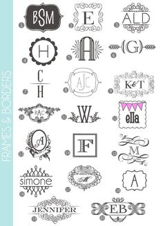Monograms Made Easy: 72 Fonts  Frames