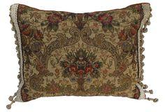 Pillow w/ Antique    Brocade on OneKingsLane.com