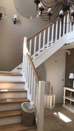 Stairway Decorating, Staircase Remodel, Half Walls, Stairways, Wood, Design, Home Decor, Flowers, Verandas