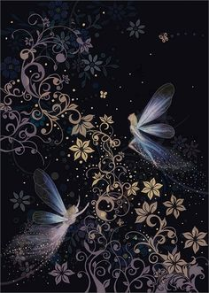 ≍ Nature's Fairy Nymphs ≍ magical elves, sprites, pixies and winged woodland faeries -  Faeryland, by Jane Crowther.]