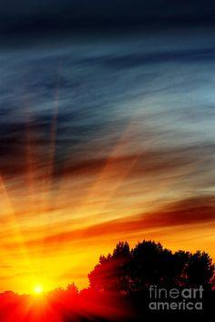 ✯ Fiery Evening Sunset