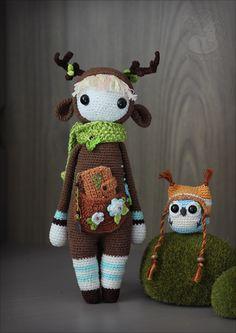Jane and Gustav by Keila-the-fawncat.deviantart.com on @DeviantArt #crochet #doll #plushie