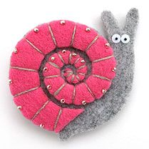Felt snail, pink shell                                                                                                                                                      More