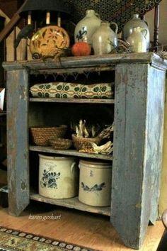 blue cupboard, stoneware  ᶫᵒᵛᵉ
