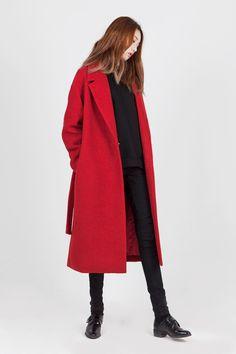 LOOKAST CHAPTER #6 - Red loop oversize coat