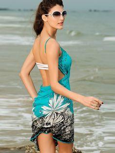 Wholesale Summer new fashion sexy beach print women dress YR-LC40714 - Lovely Fashion