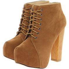 Diva Tan Suedette Platform Shoe Boots