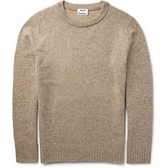Acne Studios Jena Mélange Wool-Blend Sweater ❤ liked on Polyvore featuring men's fashion, men's clothing and men's sweaters