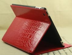 TS-case Croco Leather ipad 2 case Red. 100% genuine leather.